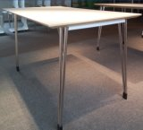 4 Seater Wood Stainless Steel Dining Table