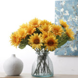 Real Touch Silk Sunflower Artificial Bundles Sunflower for Home Decoration