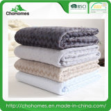 Thicken Jacquard Flannel Blanket Acrylic Blankets (two-tone colored)
