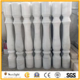 Cheap Polished/Honed/Chiseled White Marble Baluster with Railing and Handrail