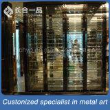 Factory Wholesale 304# Stainless Steel Back Titanium Wine Cellar/Cabniet