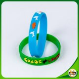Wholesale Embossed Silicone Wristband for Merry Christmas Gift
