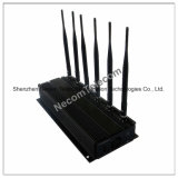Phone WiFi Blocker GPS VHF UHF and All Frequency Jammer 3G 4G, Jammer GSM850/900, Dcs, UMTS, 4G Lte, WiFi 16W
