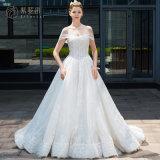 OEM off Shoulder Ladies Lace Wedding Dress Bridal Gown (BH004)
