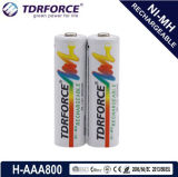1.2V (HR03-AAA 800mAh) Rechargeable Low Self Discharge Nickel Metal Hydride China Fatory Battery