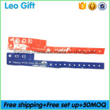 Custom Cash Tag PVC Vinyl Wristband with Silk Screen Printed Logo