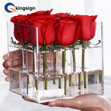 Wholesale Customize Clear Acrylic Gift Flower Rose Box