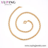 Xuping Top Grade Silk Thread Brass Chains Necklace Fake Gold Filled Jewelry with Promotion Price