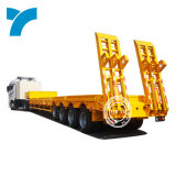 Tri Axles 80t 13 Meter Long Truck Lowbed Semi Trailer Prices