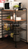 Modern Design 4 Tire 2 Baskets Portable Kitchen Organizer Shelves