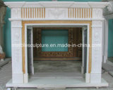 Natural Stone Hand Carved Indoor Marble Fireplace Surround (SY-MF117)