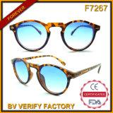 F7267 Round Shape Plastic Demi Pattern Classic Sun Eyeglass