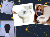 Clean White Disposable Paper Toilet Seat Cover