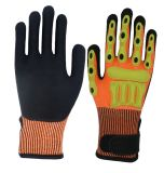 TPR Cut Vibration Impact Resistant Safety Work Glove for Machinery Industry