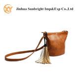 High Quality PU Ladies Cross Body Shoulder Bag with Tassels