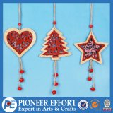 Wooden Heart Mini-Tree and Star Design for Hanging Ornament