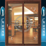 Foshan Factory Offering Aluminum Hanging Door with Double Glazing