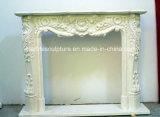 Factory Price with Custom Sizes Marble Fireplace with Flowers (SY-MF134)