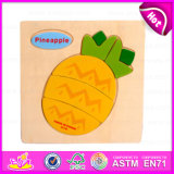Hot New Product 2015 Fruit Design Kid Wooden Puzzle Toy, Funny Cheap Wooden Toy Puzzle, Hot Sale Cartoon Wooden Puzzle Toy W14c102
