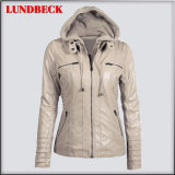 Best Sell Leisure PU Jacket for Women Outer Wear