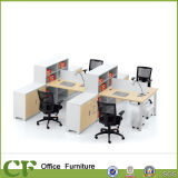 Wooden Furniture Office Workstation Table with Storage Cabinet Cup Holder
