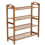 Eco-Friendly Four-Tier Bamboo Shoe Rack Bamboo Storage Rack Bamboo Display Rack Natural