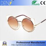 Fashion Round Diamond Cat Eye Metal Eyewear Sunglasses Women