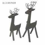 Wooden Deer Decorations of Natural Home and Garden Decor or Gift