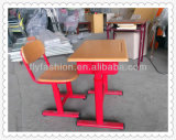 Classroom Furniture Adjustable Single Wood Desk with Chair (SF-02S)