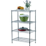 Multi-Purpose 4 Tiers Light Duty DIY Metal Kitchen Microwave Oven Wire Rack in Chrome