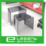 Glass Nest Table in Grey Color