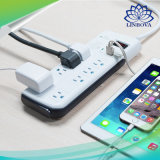 Power Strip 8 AC Outlets and 4 USB Ports Surge Protector Smart Extension Sockets for Travel Adapter