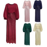 Kaftan for Women Long Sleeve Chiffon Maxi Dress Formal Gown Evening Dress