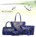 Wholesale Embossing Women Handbag Set Leather Bags Lady Handbag