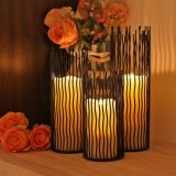 Cylinder Hollow Home Decor Metal Candle Holder for Decoration