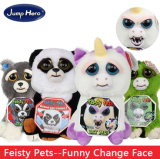 Feisty Pets Change Face Unicorn Plush Toys Funny Expression