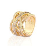 18K Gold Plated Stainless Steel Silver Fashion Wedding Engagement Man Finger Rings Jewelry Design