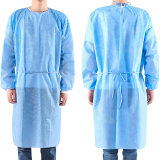 Disposable Operating Clothing Wear Coveralls Blue Non-Woven Film Clothing Personal Protective Device Source Manufacturer