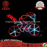 LED Santa Clus Riding Bike and Motor Christmas Rope Light for Outdoor Light Decoration.