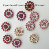 Wholesale 9mm Loose Swaro Crystals Flower Claw Setting by Sewing on Glass Beads (TP-9mm rose round)