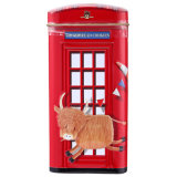Telephone Booth Metal Tin Box for Cookies