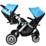 Twins Two Seat Stroller for Kids / Baby Stroller for Two Babies to Sit / Children Twin Stroller