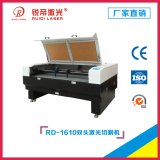 1610 CO2 Laser Cutting Machine with Two Head CO2 Laser Tube/Laser Cutting