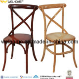 Wood Cross Back X Chair