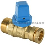 Lateral Dzr Brass Ball Valve with Cast Iron Square Cap