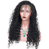 Natural Black Loose Wave Brazilian Lace Front Human Hair Wigs for Women
