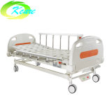 Manual Hospital Bed Price with Aluminum Guardrails Two Functional Manual Hospital Bed
