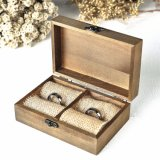 Customized Wedding Wooden Gift Box for Rings Wooden Packing Box Vintage