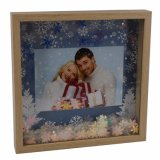 New Wooden Looking Glitter Christmas Photo Frame