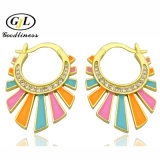 Colourful Earrings 925 Sterling Silver Brass Enamel Costume Jewelry